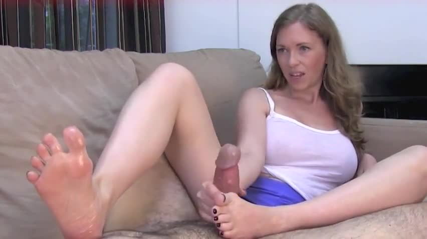 Caught watching foot porn and punished with footjob and sex ...