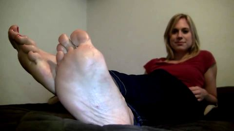 Shiny feet right up to the camera