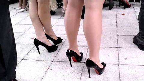 Expensive Louboutins and long legs