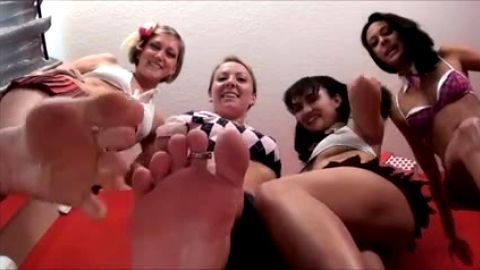 Foot sluts degrade your pathetic little dick