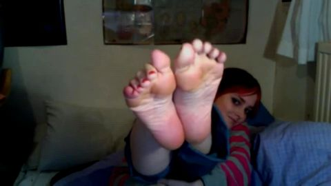 Cute Teenager Shows Her Feet Off All Over The House... And Even Licks Them For Your Pleasure