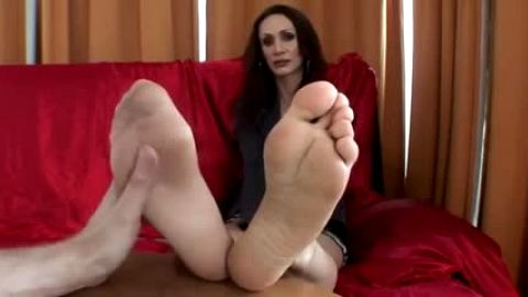 Dark Bare Flirty Foot Fetish Fun