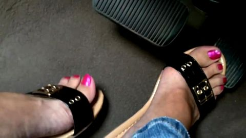 Pink toenails and vigorous pedal pumping