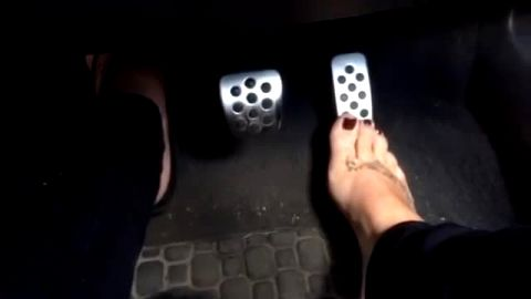 Woman With Tattooed Foot Keeps Revving That Pedal Hard