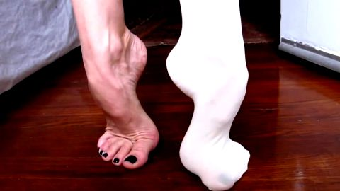 One Foot In Stockings... One Completely Bare: All For You To Compare
