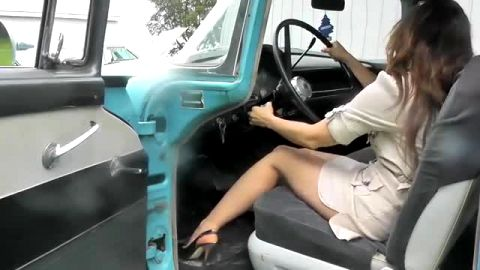Watch These Sexy Slender Women In High Heels Play Around In Their Cars For Your Entertainment