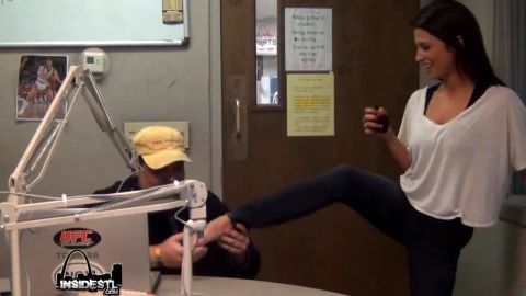 Adorable Girl Gets Interviewed On The Radio, and Shows Off Her Cute Tattooed Bare Feet
