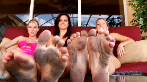 Frisky White Dirty Foot Fetish Fantasy Ladies