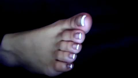 Black Manicured Luscious Lady Toes Foot Fetish