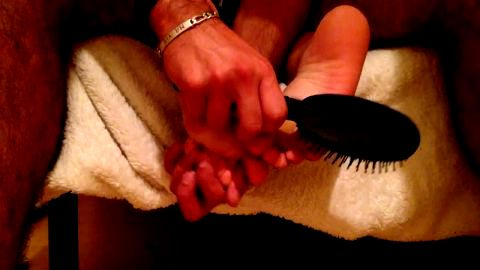 Beautiful feet tickled for 20 minutes