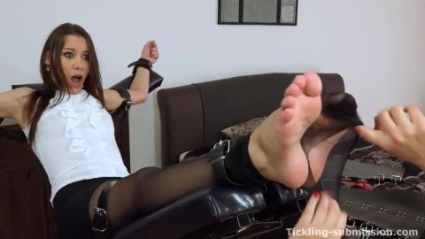 Hot Bondage Foot Tickling in hose
