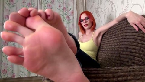 Spicy Redhead JOI Foot Fetish