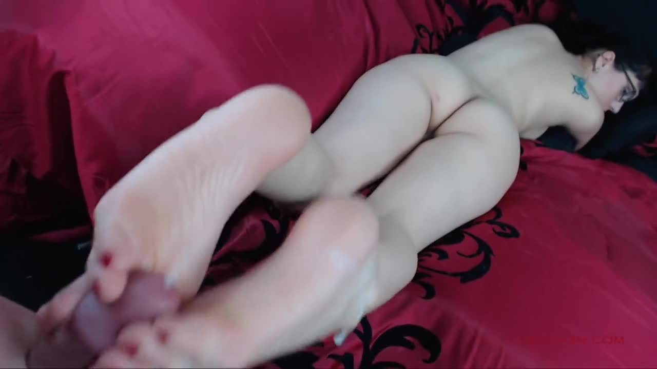 Year Old Teen First Footjob With Her Tiny Feet Tmb