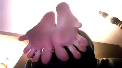 French manicured amateur toes in macro closeup