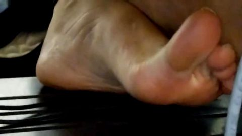 Dirty and caloused amateur feet