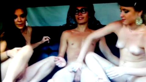 Nude bisexual foot job party