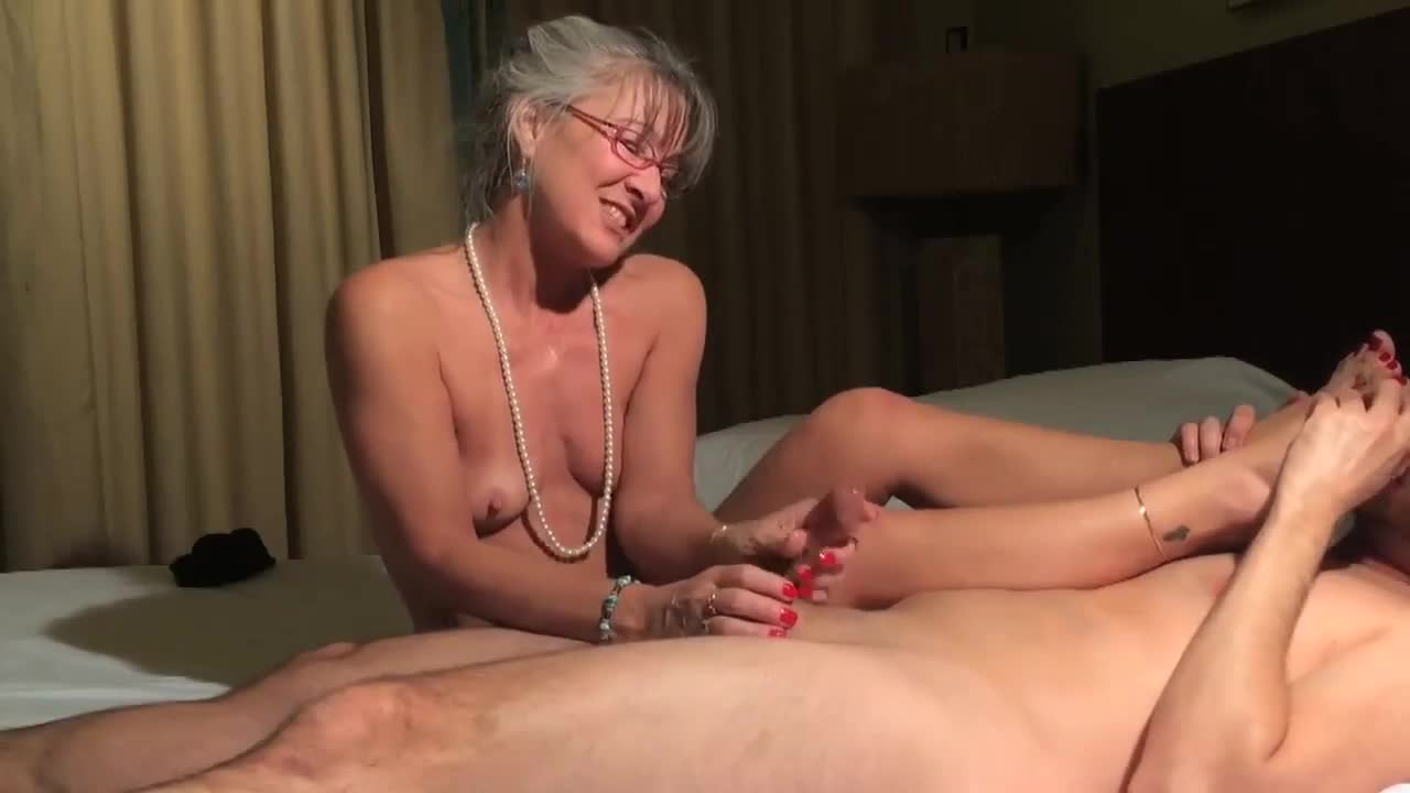 My sexy wife gives me a foot job 2