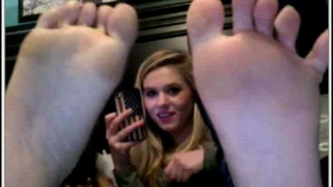 Compilation of sexy feet on webcam