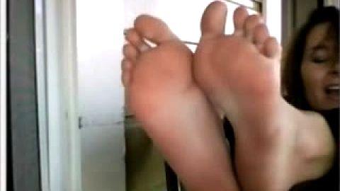 Feet on Webcam