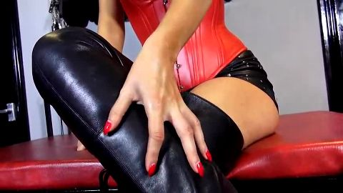German mistress wants you to lick her boots