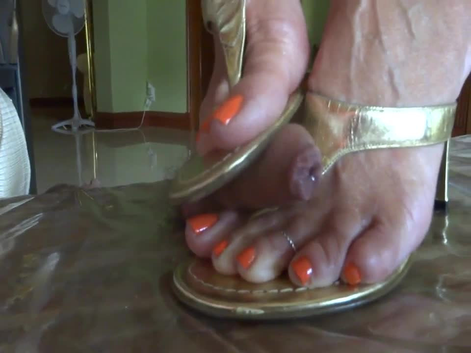 Mature Ebony Flip Flops Footjob Regular Version Foot