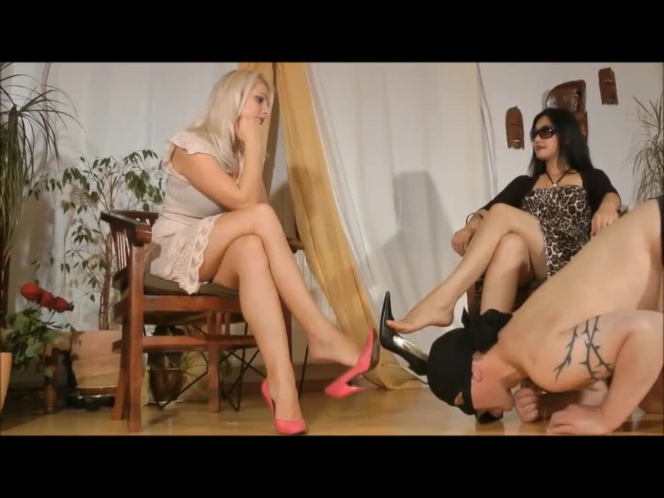 Two Mistress Nylon Feet
