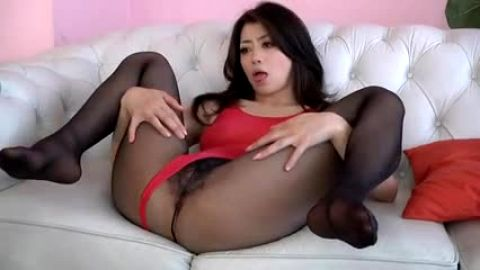 Changing pairs of stockings ~ Georgeous Japanese woman fucks