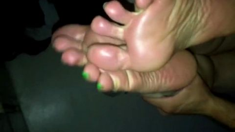 Feet held up while she gets fucked