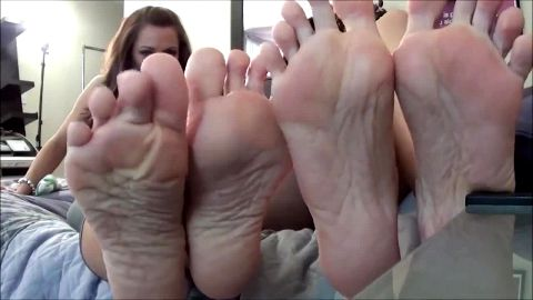 Super naughty girls worshipping and licking their delicious feet