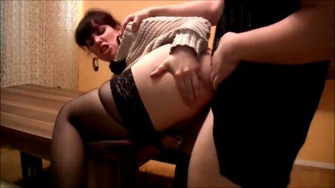 German woman in black nylons getting anal sex