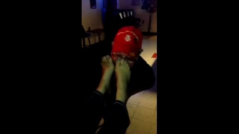 Horny amateur guys sniffing some sexy feet in hot video