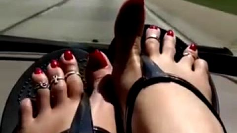 Super naughty women exposing  long nails on their delicious feet in hot video