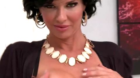 Kinky Milf in nylon squirting and riding a guy with a hard cock on the couch