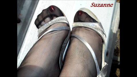 Suzanne - Beautiful Toes in RHT nylons and Strappy Sandals