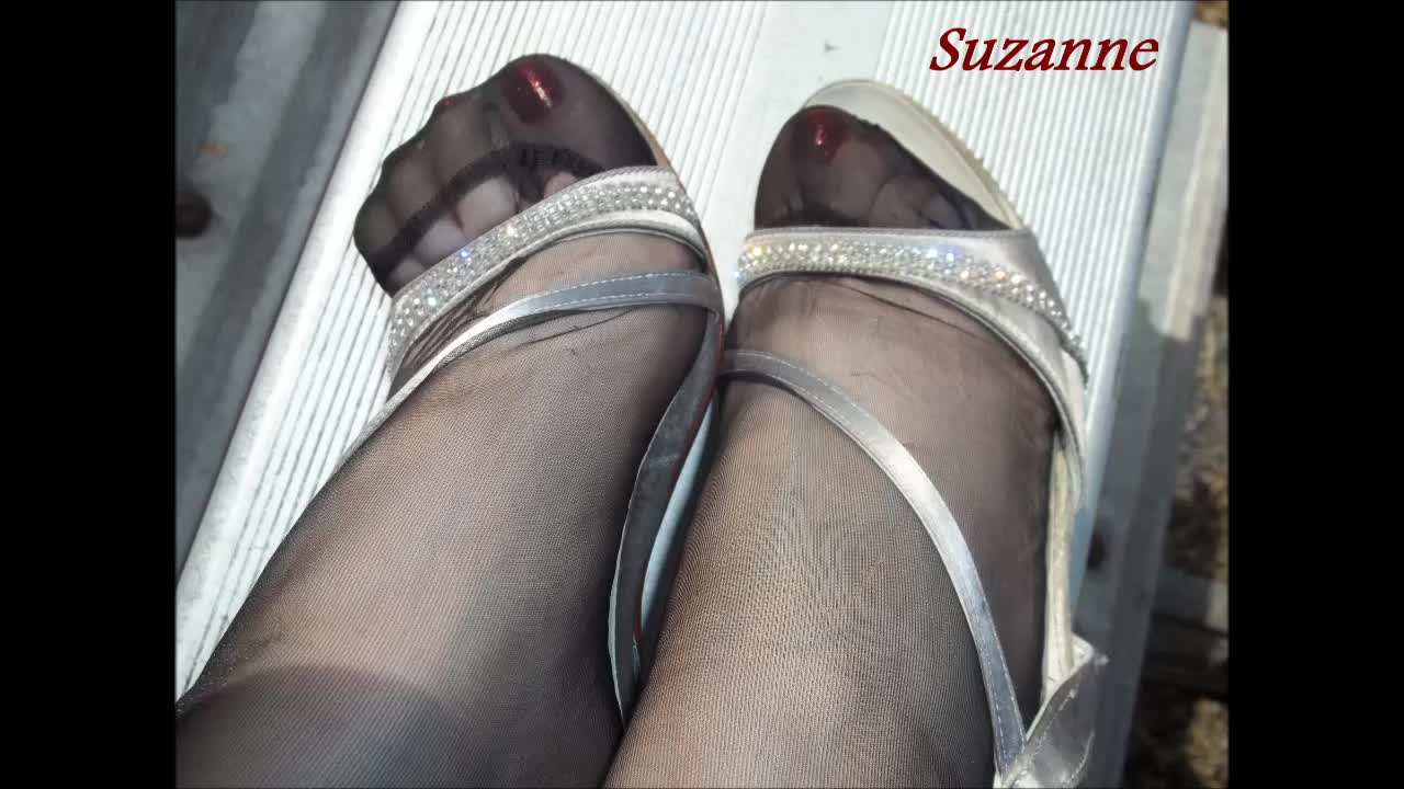 Suzanne And Strappy Nylons Sandals Beautiful Toes In Rht Feet9 IEDH29YW
