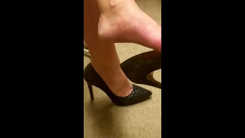 Kinky employee films his sexy female co-worker's attractive legs and shoes at work