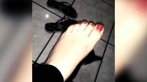 Wonderful amateur girls secretly showing off their amazing feet and toes in public