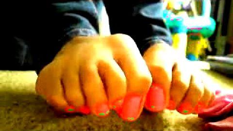 sock pink and sexy nail feet