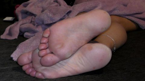 Feet off my wife