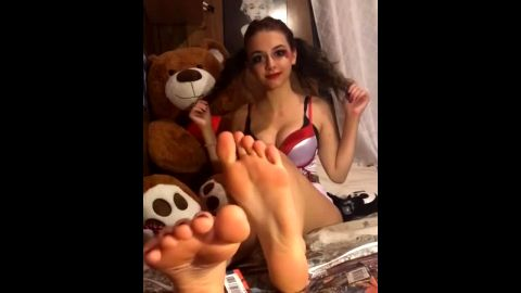 Compilation of kinky teenage babes using their feet to seduce horny men