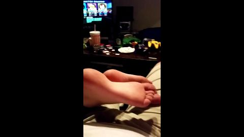 Enjoy massaging my amateur babe's fantastic feet while playing video games