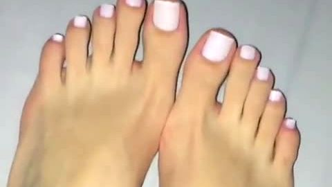 amateur french pedicure amazing sexy toes