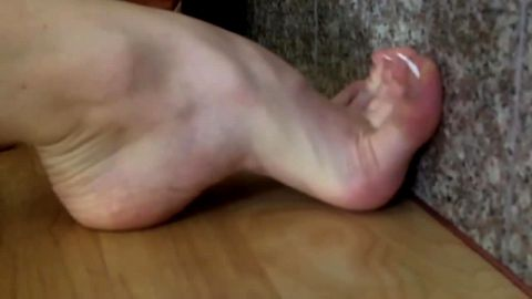 Amateur ballerina can do many interesting things with her huge arches and flexible feet