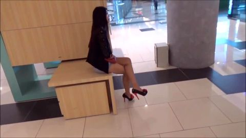Beautiful Asian girls look stunning in their sexy outfits and high heel shoes