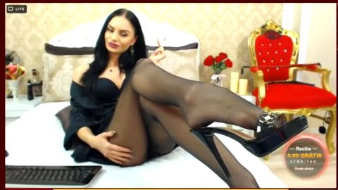 Glorious cam models enjoy wearing sexy nylon stockings while chatting live