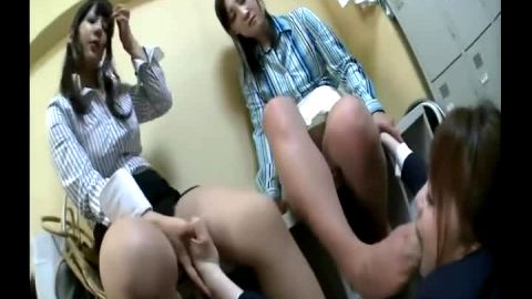 Sexy Asian bitches humiliate their male & female slaves in kinky XXX actions