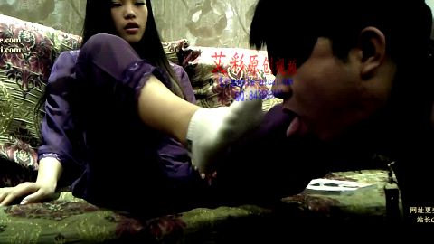Beautiful Asian woman found herself a great male foot slave who she can torture