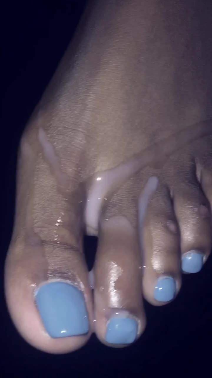 Best of Ebony Cum Toes