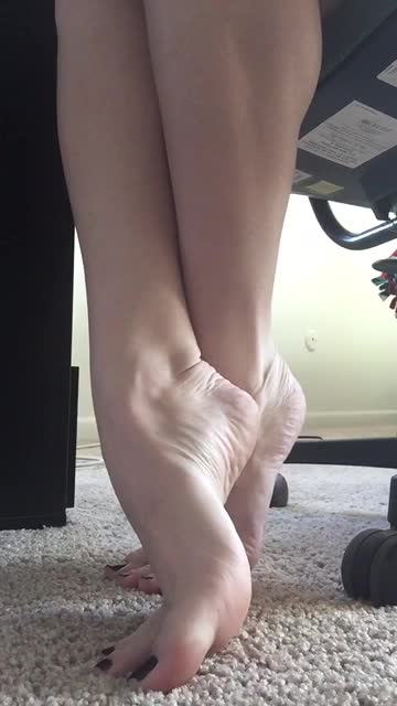 My Sexy Feet  Toes Nails Under The Desk - Feet9-8473