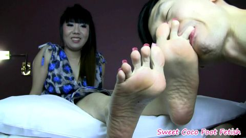 sweet coco get her sexy feet worshiped (long nails)